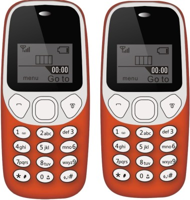 I Kall K71 Combo of Two Mobile(Red)
