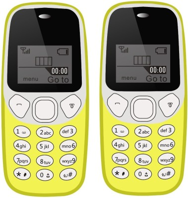 I Kall K71 Combo Of Two Mobile(Yellow)