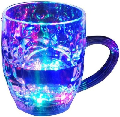 Royle Katoch Inductive Rainbow Color Disco Led 7 Colour Changing Liquid Activated Lights Plastic Plastic Mug(296 ml)  available at flipkart for Rs.299