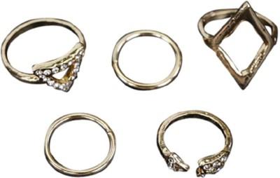 FemNmas Geometry Triangle Midi Ring Set Alloy Ring Set  available at flipkart for Rs.349