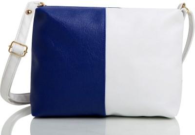 5e7edcea8f7 46% OFF on Mammon Girls Blue, White Rexine, Velvet Sling Bag on Flipkart |  PaisaWapas.com