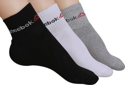 REEBOK Men & Women Solid Ankle Length Socks(Pack of 3)