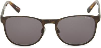 BMW Round Sunglasses(Brown) at flipkart