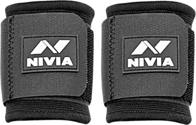 Nivia Ws-583 Pack Of 2 Wrist Support (Free Size, Black)  available at flipkart for Rs.298