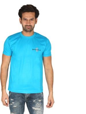 Bamboo Breeze Solid Men's Round Neck Light Blue T-Shirt