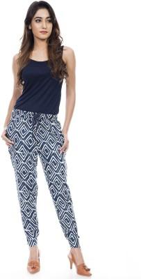 Amadore Regular Fit Women Blue Trousers