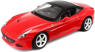 Bburago Ferrari California T Closed Top, Diecast Model Car, Scale 1:18, Color - Red(Red)
