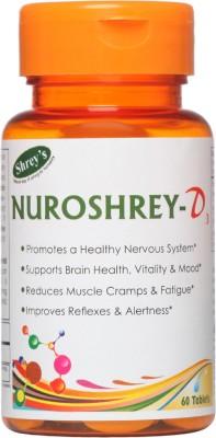 Shrey's Nuroshrey D3, Vitamin B12 & Vitamin D3 - 60 Tablets (with ALA & Folic Acid)(60 No)