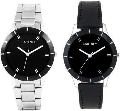Cartney Black Dial Combo Pack of 2 Watch Watch  - For Girls   Watches  (cartney)