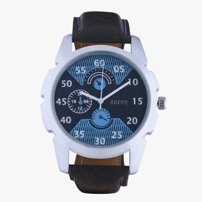 Adine AD-7005BLACK-BLUE  Analog Watch For Unisex