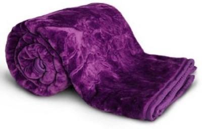 Shivam Concepts Floral Double Blanket Purple at flipkart