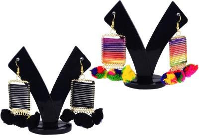 Fully Multi-Colour Earnings set For wedding And Causal Wear Ivory Hoop Earring Flipkart