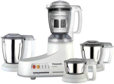 Panasonic MX-AC400W 240 Mixer Grinder(White, 4 Jars)  available at flipkart for Rs.4599