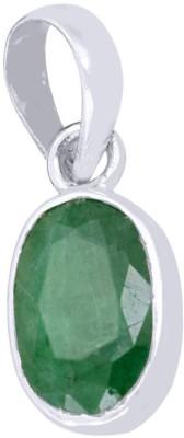Kataria Jewellers 7.51 Carat 8.25 Ratti Natural Green Emerald Panna Panch Dhatu Metal Pendant