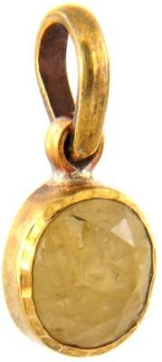 Kataria Jewellers 5.69 Carat 6.25 Ratti Natural Yellow Sapphire Pukhraj/Pushkraj/Pokhraj Panch Dhatu Metal Pendant