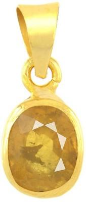 Kataria Jewellers 4.78 Carat 5.25 Ratti Natural Yellow Sapphire Pukhraj/Pushkraj/Pokhraj Asht Dhatu Metal Pendant