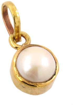 Kataria Jewellers 4.78 Carat 5.25 Ratti Natural Pearl Moti Panch Dhatu Metal Pendant