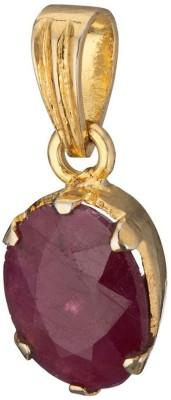 Kataria Jewellers 4.78 Carat 5.25 Ratti Natural Ruby Manik Asht Dhatu Metal Pendant