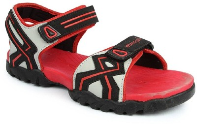 Mmojah Men Grey::Red Sandals  available at flipkart for Rs.599