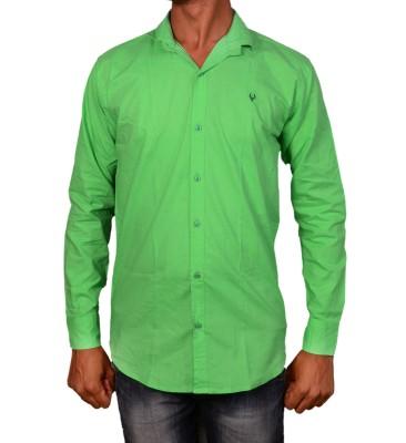 Layba Men's Solid Casual Green Shirt