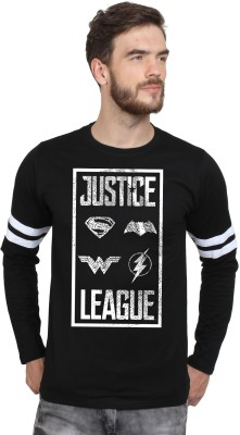 SayItLoud Justice League Printed Men's Round Neck Black, White T-Shirt