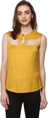 MAYRA Casual Sleeveless Solid Women Yellow Top MAYRA Women's Tops