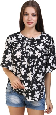 glamfab Party Flared Sleeve Floral Print Women