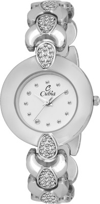 cubia cb-1221 Silver diamond Watch  - For Girls