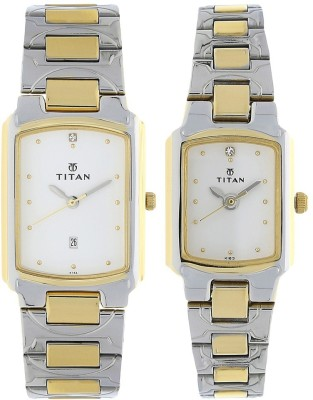 Titan 19552955BM01 Bandhan Analog Watch For Couple