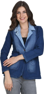 BuyNewTrend Full Sleeve Solid Women's Denim Jacket