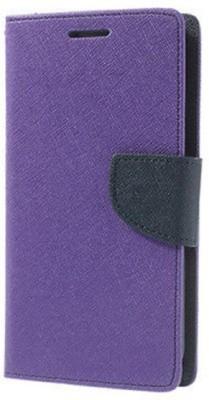Fresca Flip Cover for Motorola Moto E3 Power(Purple, Artificial Leather)