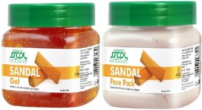 SSCPL Herbals Skin Lighting Gel & Face Pack (450gms each)(Set of 2)