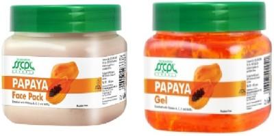 SSCPL Herbals Papaya Gel & Face Pack (450gms each)(Set of 2)