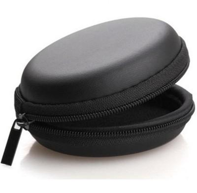ReTrack Leather Zipper Headphone Pouch(Black)