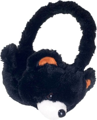 ShopyBucket KDZ Kids Tablet Over-Ear Headphones with Furry Bear Design Wired, Bluetooth Headset with Mic(Black, White, Over the Ear)