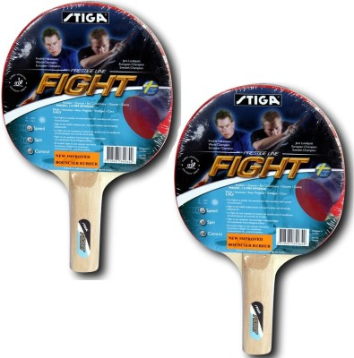 Cosco Stiga Fight table Tennis Bat Multicolor Strung Table Tennis Racquet(G, Weight - 350 g)  available at flipkart for Rs.150