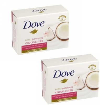 Dove Purely Pampering Coconut Milk Beauty Cream Bar, (Imported, Made in EU, 100 gm, Pack of 2 )(200 g, Pack of 2)
