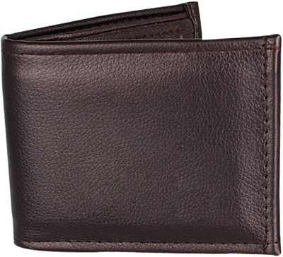 LAER Men Brown Genuine Leather Wallet(10 Card Slots)  available at flipkart for Rs.149