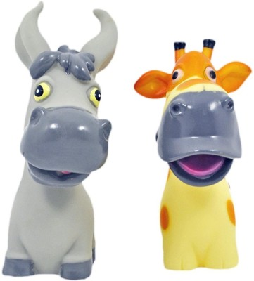 Babysid Collections Squeeze Toys for Babies Bath Time Pals Donkey and Giraffe Size : 9 X 11 cm each BPA Free Bath Toy(Multicolor)
