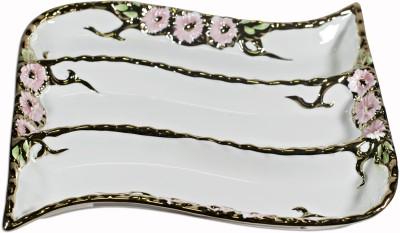 La Platina Fine Porcelain Platter Plate Ceramic Disposable Bowl Set(Multicolor, Pack of 1)
