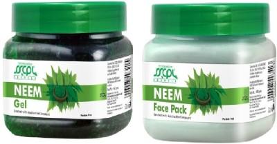 SSCPL Herbals Neem Gel & Face Pack (450 gms each)(Set of 2)