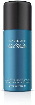 Davidoff Cool Water All Over Deodorant Body Spray For Men, 150 ml