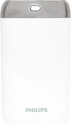 Philips DLP8006 Lithium Polymer Power Bank, 8000 mAh (White)