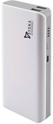 Syska 10000 Power Bank (White Blue, X-100)(White Blue, Lithium-ion)