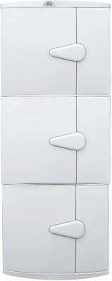 Wintex Icon Triple Door Cabinet Polypropylene Wall Shelf(Number of Shelves - 3, White)