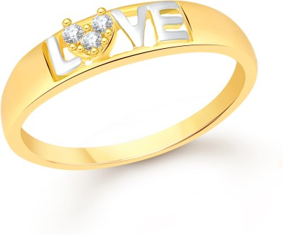 Divastri Love Alloy Cubic Zirconia 18K Yellow Gold Plated Ring