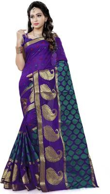 Jhilmil Fashion Embroidered Banarasi Silk Saree(Multicolor)