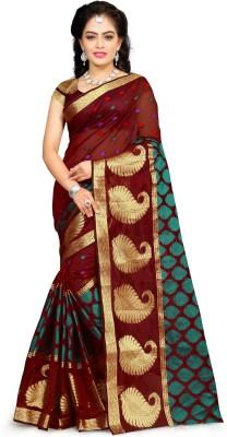 Jhilmil Fashion Woven Banarasi Silk Saree(Multicolor)