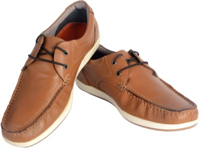 21e47a27df0da 65% OFF on ShoeAdda Boat Shoes For Men(Tan) on Flipkart