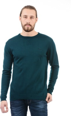 Pepe Jeans Solid Round Neck Round Neck Casual Men Blue Sweater at flipkart